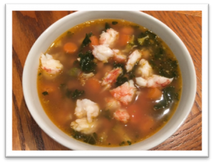 Warm up with Trina's Chicken Gumbo Soup